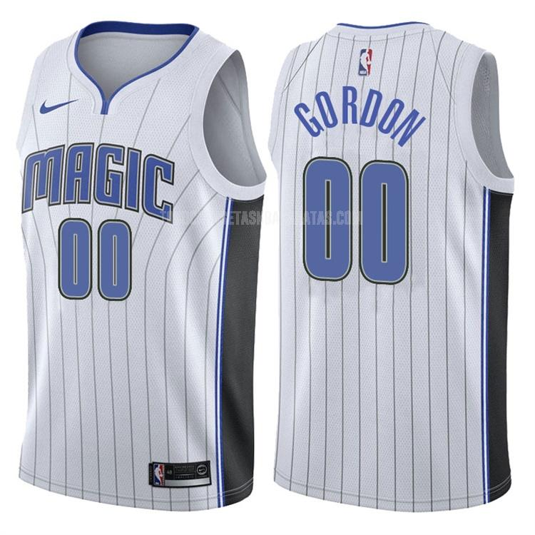 camiseta orlando magic aaron gordon 0 blanco association hombres 2017-18