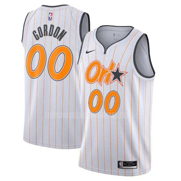 camiseta orlando magic aaron gordon 0 blanco city edition hombres 2020-21