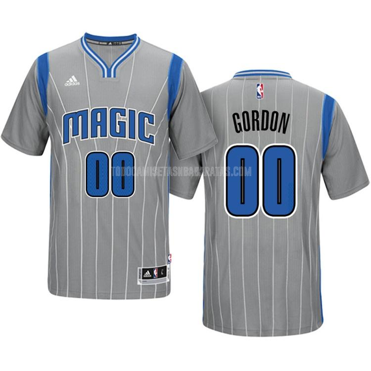 camiseta orlando magic aaron gordon 0 gris manga corta hombres