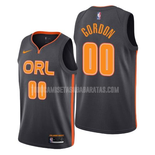 camiseta orlando magic aaron gordon 0 negro edición city hombres 2019-20