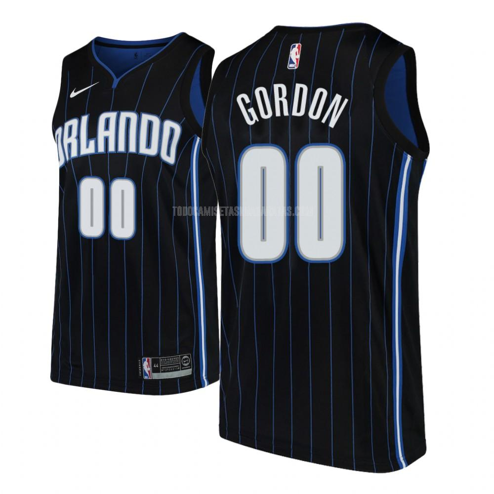 camiseta orlando magic aaron gordon 0 negro statement hombres