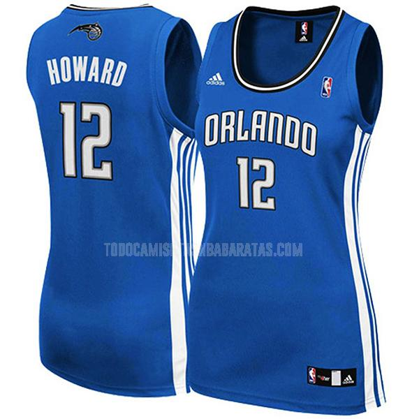 camiseta orlando magic dwight howard 12 azul clásico mujer