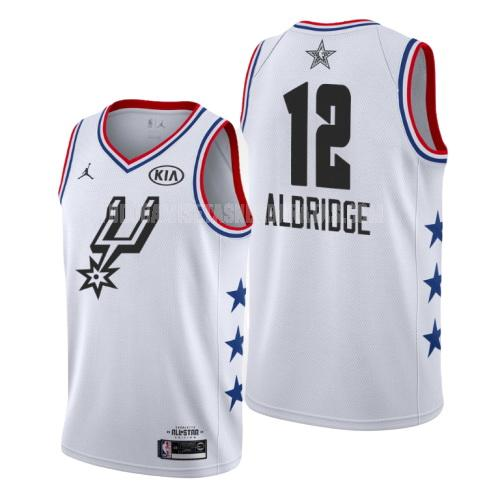 camiseta san antonio spurs lamarcus aldridge 12 blanco nba all-star hombres 2019