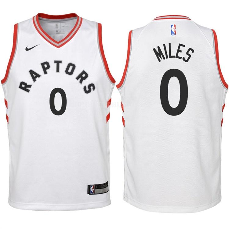 camiseta toronto raptors cj miles 0 blanco association niños 2017-18