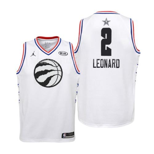 camiseta toronto raptors kawhi leonard 2 blanco nba all-star niños 2019