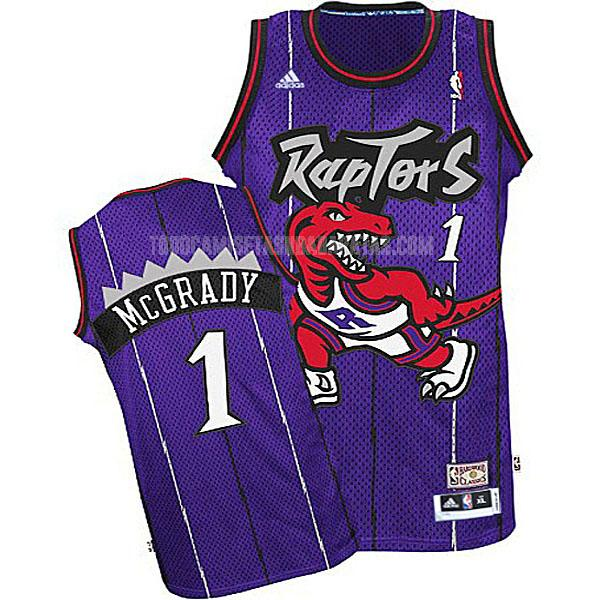 camiseta toronto raptors tracy mcgrady 1 morado retro niños