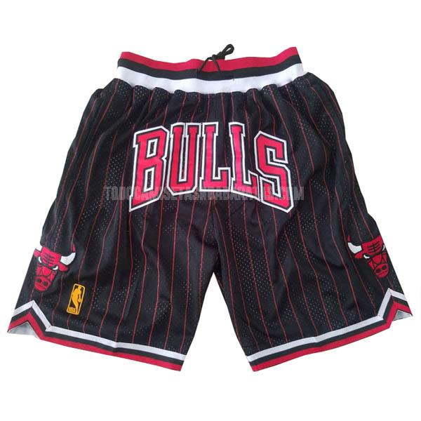 pantalones cortos nba chicago bulls negro just don bolsillo-raya