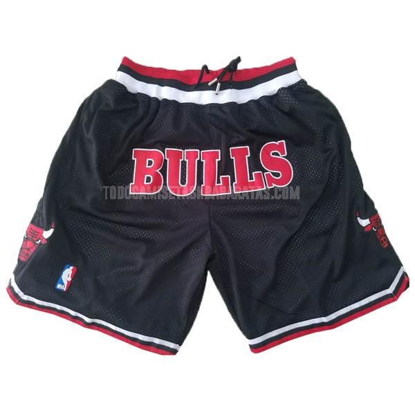 pantalones cortos nba chicago bulls negro just don bolsillo-retro