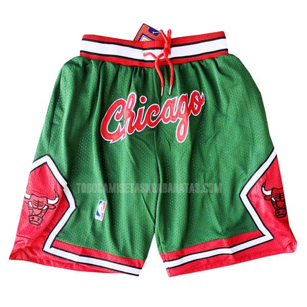 pantalones cortos nba chicago bulls verde just don bolsillo-retro