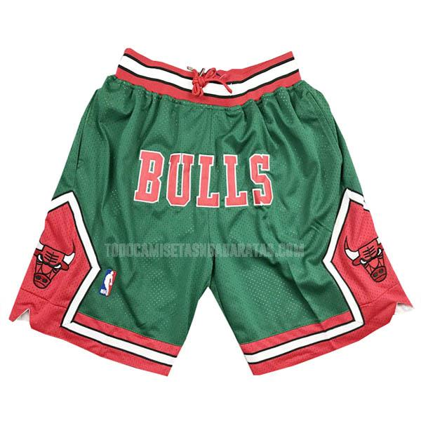 pantalones cortos nba chicago bulls verde just don bolsillo