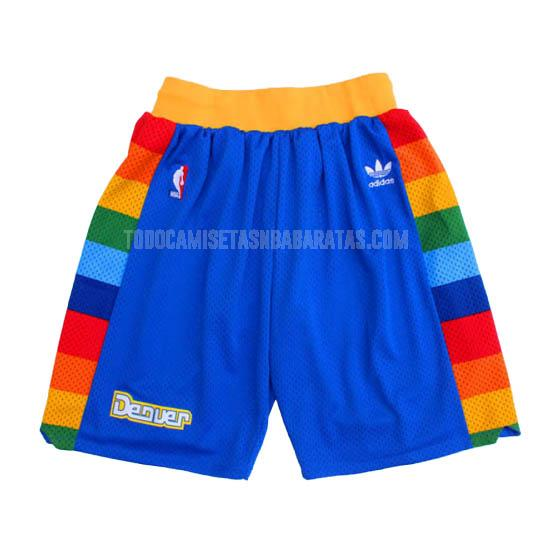 pantalones cortos nba denver nuggets azul retro