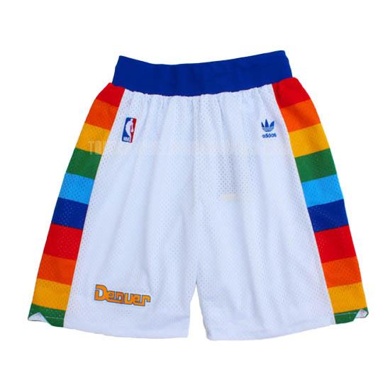 pantalones cortos nba denver nuggets blanco retro