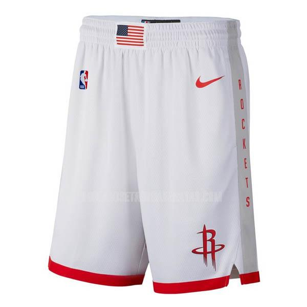 pantalones cortos nba houston rockets blanco edición city