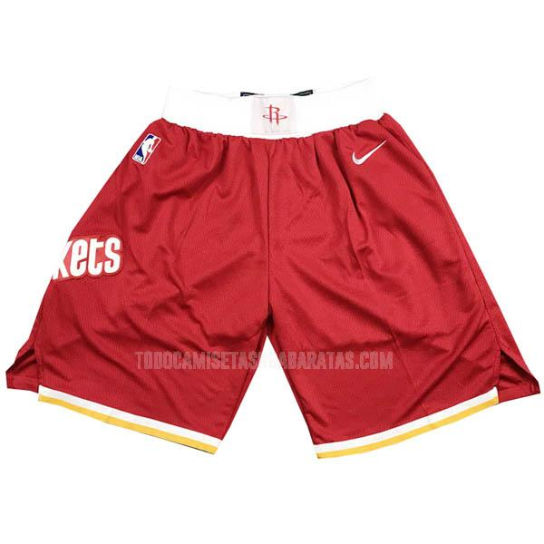 pantalones cortos nba houston rockets rojo retro