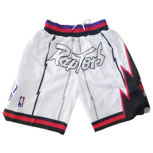 pantalones cortos nba toronto raptors blanco just don bolsillo