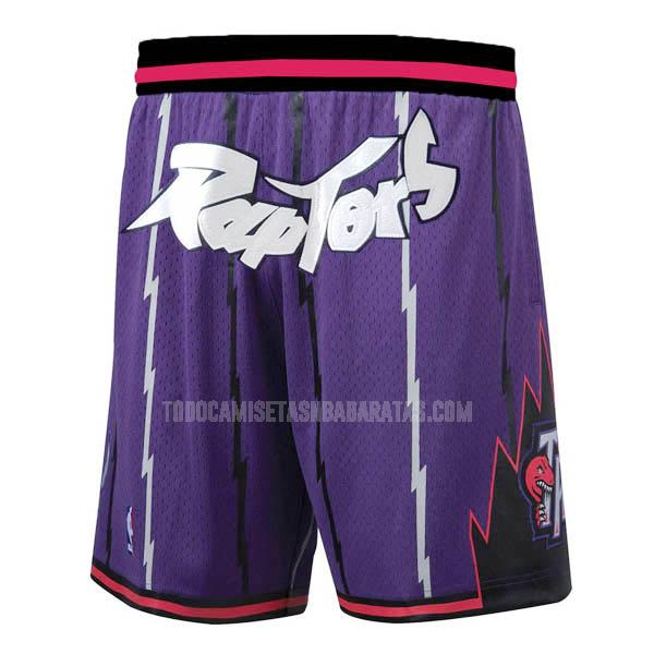 pantalones cortos nba toronto raptors morado just don bolsillo